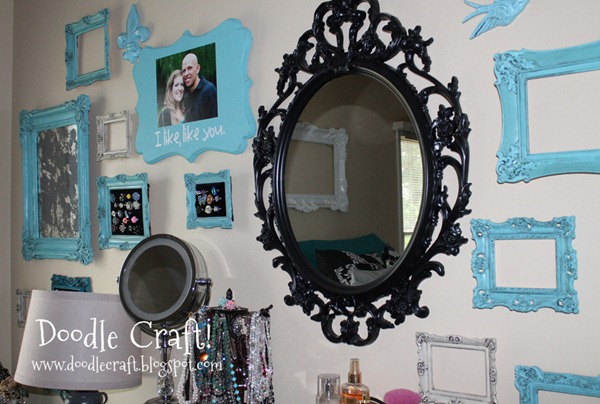 gallery wall scroll mirror