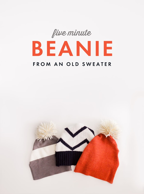 How to make a beanie from an old sweater, DIY hat