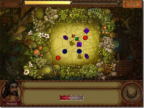 In this free gem game you are to help Princess Chalida locate the seven gems of her royal crown and break the curse that has trapped her in a body of wood.