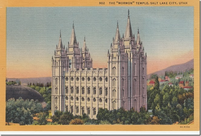 Salt Lake Temple Postcard pg. 1 - 1933