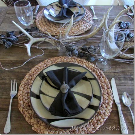 Beautiful Tablescape with a Woodsy Style