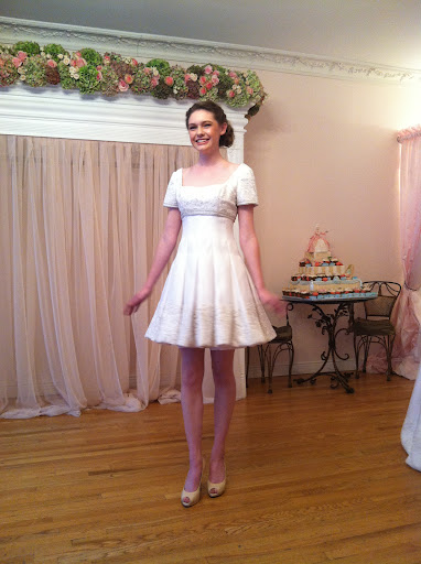 …and you have this cute reception dress!