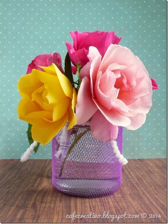 cafe creativo - tutorial riciclo vaso fiori retina (1)