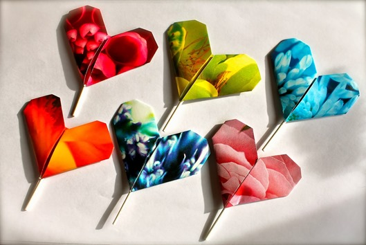 Origami Love Lollipops