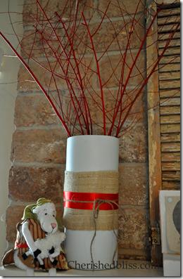 Christmas Burlap Vase