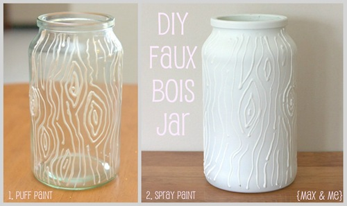 DIY faux bois jar tutorial