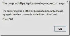 picasa web error