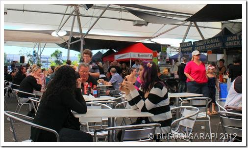 DINING AREA, ROCKLEA SUNDAY DISCOVERY MARKET© BUSOG! SARAP! 2012