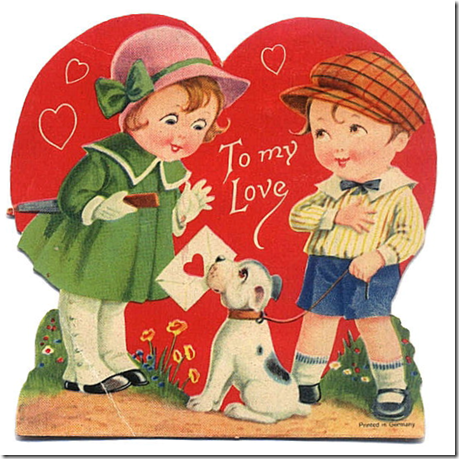 06-Vintage Valentine Hearts Clip Art