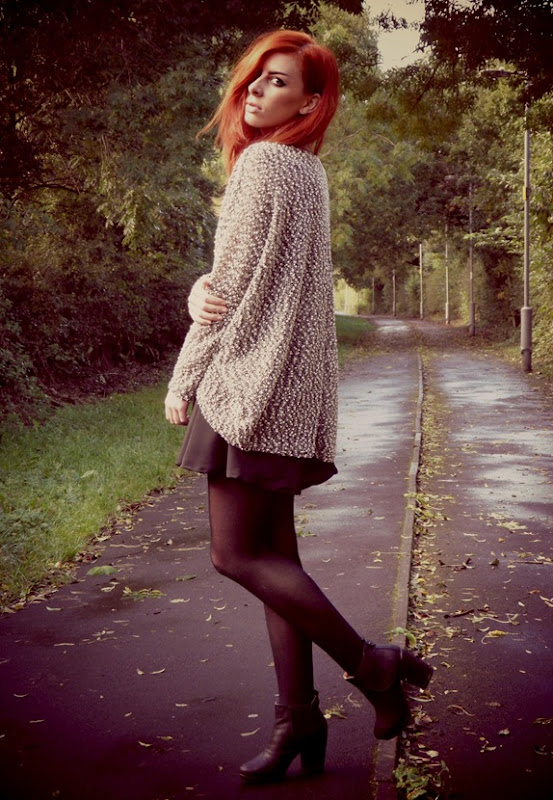AX Paris grey popcorn cardigan