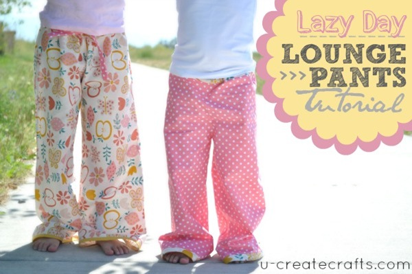 Lazy Day Lounge Pants at u-createcrafts.com