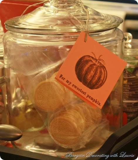 Pumpkin gift tag-Bargain Decorating with Laurie