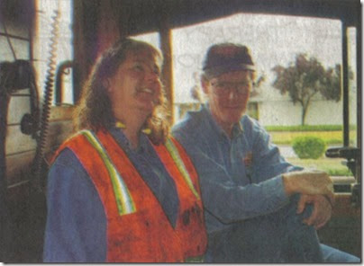 Jim Vanderbeck & his wife Linda in the cab of Spokane, Portland & Seattle 4-8-4 #700 in 2005