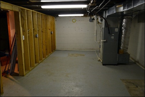 basement west end scrubbed
