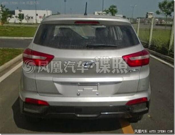 Hyundai-ix25-production-model-spied-rear