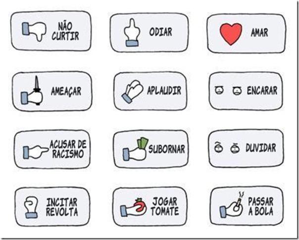 Sugestão de botões para o Facebook