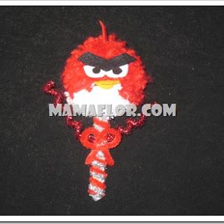 Souvenirs de Angry Birds Hecho con Pompos