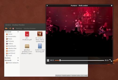 Gloobus Preview su Ubuntu