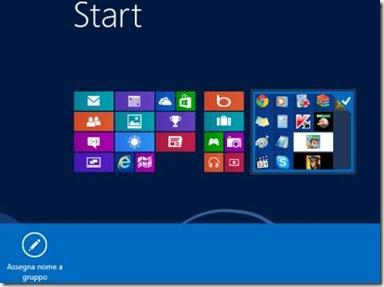 Windows 8 Riposizionare i gruppi delle applicazioni/piastrelle
