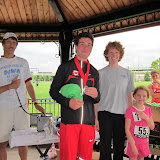 Second place 10K medal went to Bruno Carriere (CAN).