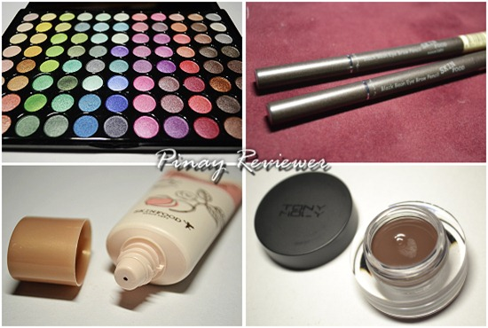 Props palette, Skinfood BB cream, Skinfood Black Bean Eyebrow Pencil, Tony Moly Gel Eyeliner