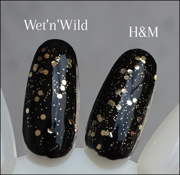 H&M Nagellack Dupe Wet'n'Wild Glamorous Stay Golden 2