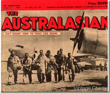 cover of the Australian Magazine from January 1942 featuring fly boys.