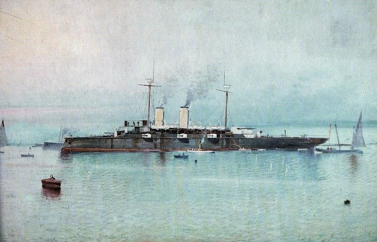 Acuarela del REINA REGENTE. Del libro El Buque en la Armada Española.jpg