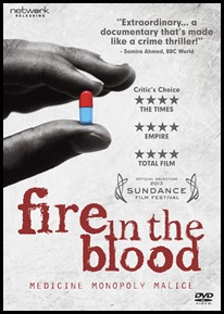 Fire in the Blood DVD packshot