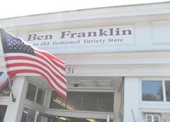7.31.12 Ben Franklin store front