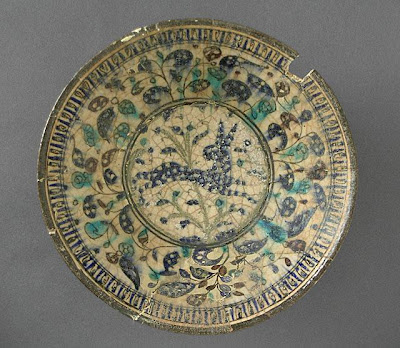 Bowl | Origin: Iran | Period: late 13th-early 14th century | Collection: The Madina Collection of Islamic Art, gift of Camilla Chandler Frost (M.2002.1.227) | Type: Ceramic; Vessel, Fritware, underglaze-painted, Height: 3 3/8 in. (8.57 cm); Diameter: 8 3/4 in. (22.22 cm)