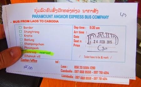 Paramount Angkor Express ticket