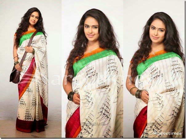 Avika_Gor_White_Embellished_Saree
