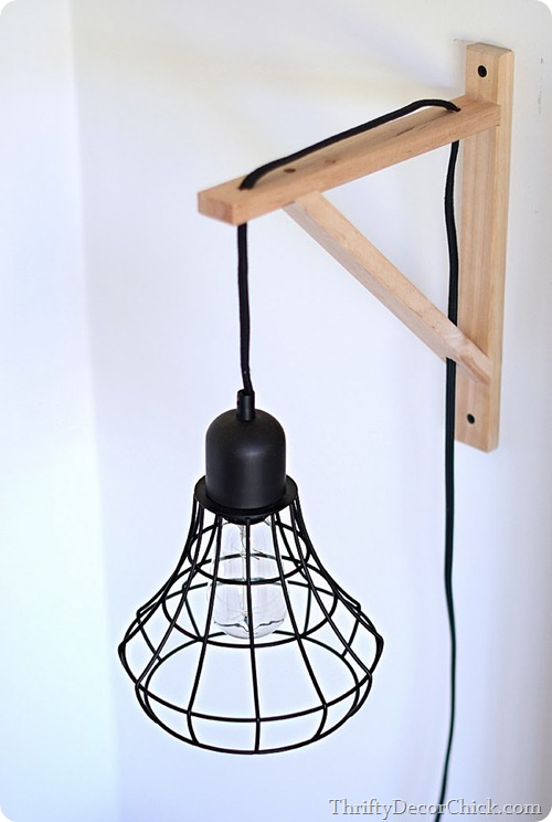diy cage light sconce