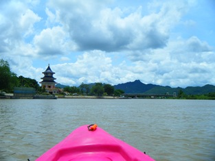 Canoeing down the River Kwai