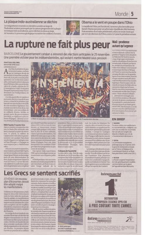 Sud-Ouest lo melhor article de l'Estat francés