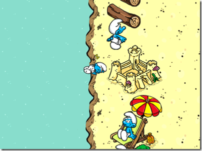 Baby Smurf sleeping at the wrong place