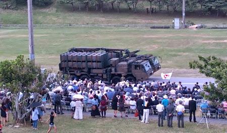 03式中距離地対空誘導弾と発射装置車両