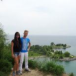scarborough bluffs cliff edge in Toronto, Ontario, Canada