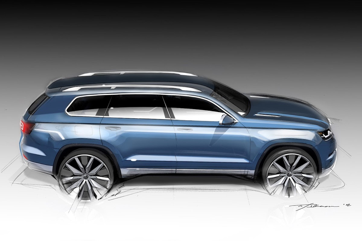 New Volkswagen CrossBlue 67Seater SUV Concept in More Detail