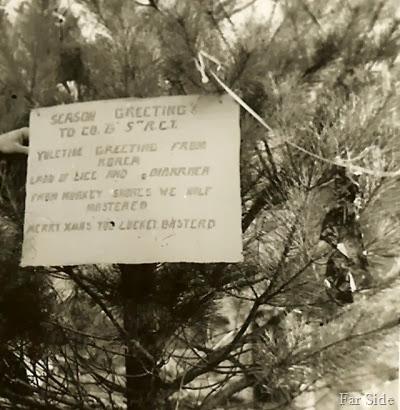 Sign on the Christmas Tree 1951 Korea