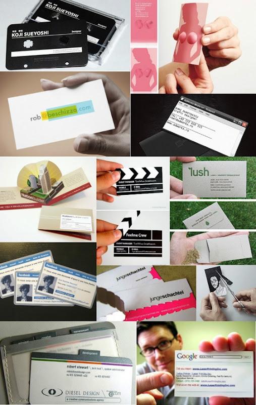 Modelos de cartão de visitas e porta cartões: Sugestões criativas.
