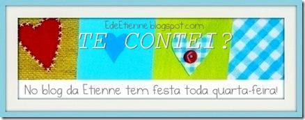 """Imagem do banner da blogagem Coletiva """"Te Contei?"""", do Blog E de Etienne"""