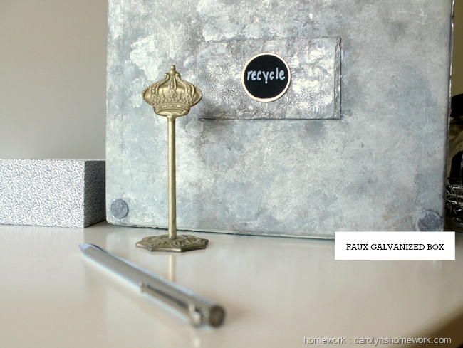 Faux Galvanized Finish with Tin Foil via homework | carolynshomework