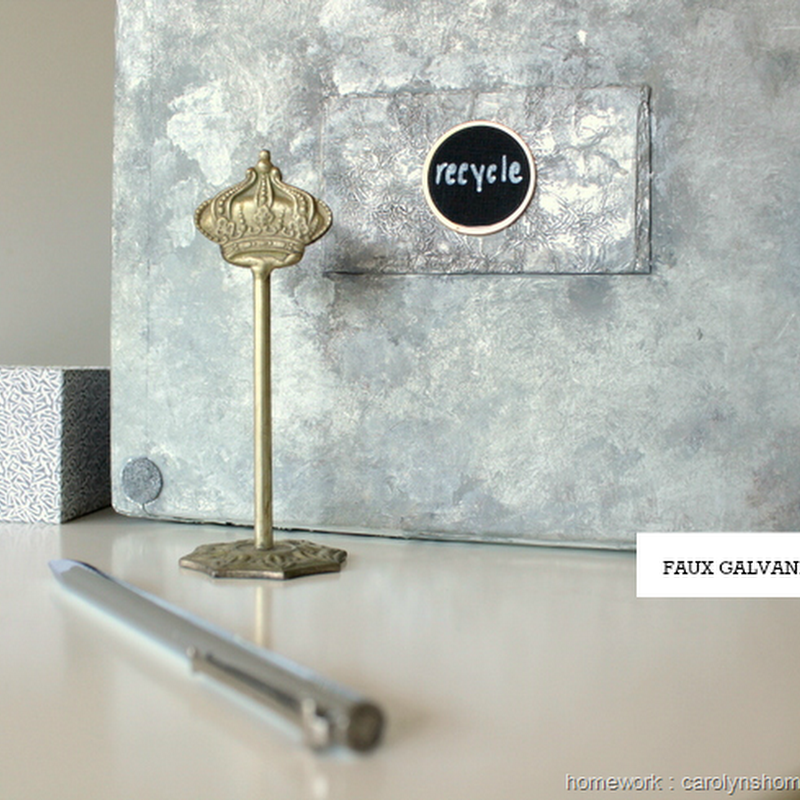 UPCYCLING: Faux Galvanized Metal Box