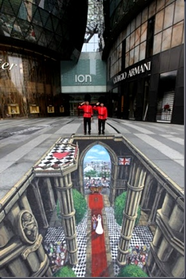 Visit Britain 'You're Invited' campaign - Royal Wedding 3D canvas in Singapore by Joe Hill & Max Lowry
