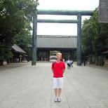 matt at the Yasukuni shrine in Chiyoda, Tokyo, Japan