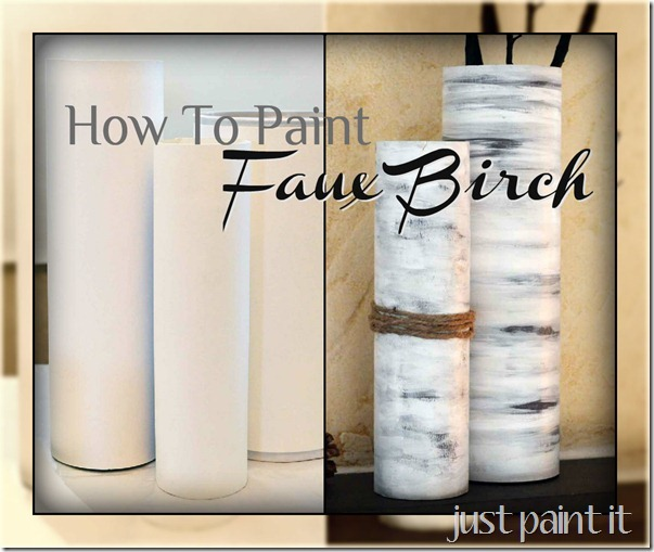 paint faux birch