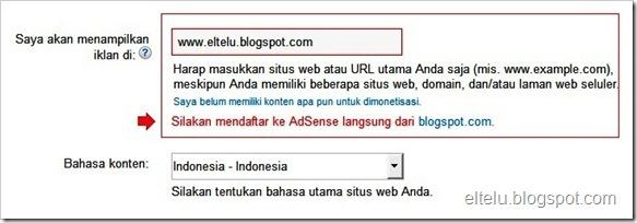 Mendaftar AdSense Langsung