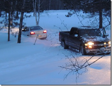 spaghetti feed warroad game truck stuck 060